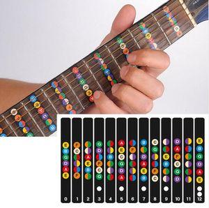 Chitarra Tastiera Note Note Etichette Adesivo Tastiera Fret Decalcomanie per 6 Corde Guitarra Elettrica Acustica