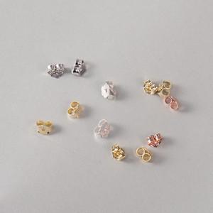 Atacado tampões de ouvido prata esterlina 925 de prata sólida earring back brinco profissional vendas entregues iice mais recente moda jóias 6 cores