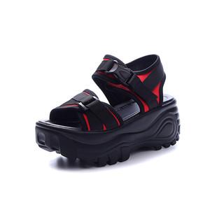 Sandales Femme 2018 Nouveau Students Sandalias de plataforma planas de cuero Zapatos Mujer Chaussures Femme Scarpe Donna Mujer Sandalias de gladiador