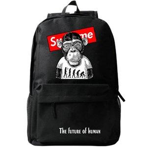 Casual Good Lo zaino umano Packsack Sport Pack Outdoor School Bag Scimmia Cool Future Rucksack Day Schoolbag di Daypack Cehfi