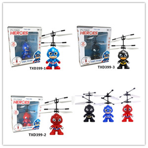 3 styles RC Drone Flying copter Ball Aircraft Helicopter Led Flashing Light Up Toys Induction Electric Toy sensor Kids Christmas Gift win007