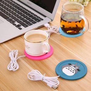 OOTDTY Cartoon 5V USB Warmer Silicone Riscaldatore per tazza di caffè bevande calde Bevanda tappetino pad