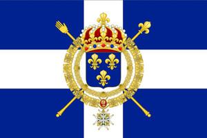 Франция Торговый флаг Новой Франции военно-морской флаг королевства Франции 3 фута х 5 футов полиэстер баннер летать 150 * 90 см пользовательский флаг открытый