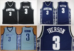 Джорджтаун Хойас Аллен Айверсон колледж баскетбол Джерси университет #3 Аллен Айверсон Вефиль средней школы баскетбольные майки сшитые S-XXL