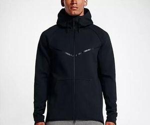 2018 nuovo autunno inverno grande taglia con cappuccio da uomo sportswear tech in pile windrunnersh moda moda sport giacca sportiva in esecuzione fitness giacca cappotto