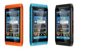"""Nokia original abierto 3G de telefonía móvil N8 GSM WIFI GPS 12MP con pantalla táctil de 3.5"""" envío libre 16GB interno Reformado"""
