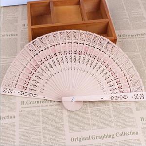 New Chinese Aromatic Wood Pocket Pieghevole tenuto in mano Fans Elegent Home Decor Bomboniere regali di nozze
