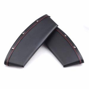 2 Stücke PU Leder Catcher Catcher Box Caddy Autositz Gap Slit Pocket Speicherorganisator