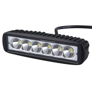 Luz de trabalho 18 W 6 polegadas LED Bar trabalho luz como Worklight Flood Spot Light para passeios de barco de pesca de caça