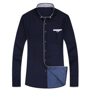새로운 패션 인쇄 캐주얼 남성 긴 소매 셔츠 바느질 패션 포켓 디자인 직물 부드러운 편안한 남성 드레스 슬림핏 스타일 아시아 크기