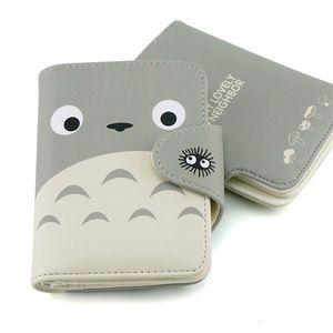Mein Nachbar Totoro Wallet Schöne Katze Japanischen Anime Pu Leder Kurze Geldbörse Haspe Damen Geldbörse Kawaii Kartenhalter für Studenten