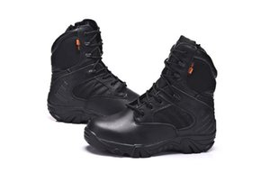 Tactical combat Army Brand Male Shoes Zipper Design Delta SWAT Military Boots Dro Non-slip soles mens shoes Waterproof uppers for outdoor