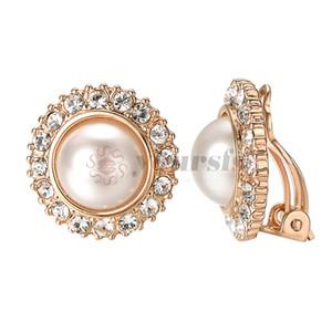 Yoursfs 클립 귀걸이 아이보리 진주 둥근 귀걸이 gir E1070R1-10를위한 귀걸이에 피어싱 된 클립 없음