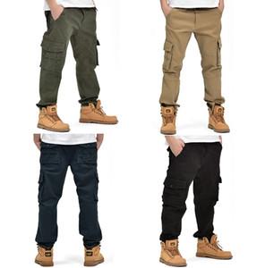 Pantalones cortos de algodón multijugador de los hombres de los deportes pantalones casuales Pantalones largos al aire libre rectas de la recta grande del invierno