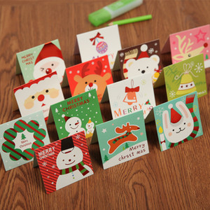 140pcs lot Santa Claus Mini Greeting Cards Message Card Christmas Holiday Blessing Card Christmas Tree Hanging Ornaments
