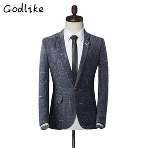 GODLIKE 2018 Men's new Blazers for fashion, business and leisure Men's Slim Personality Sizes Suits