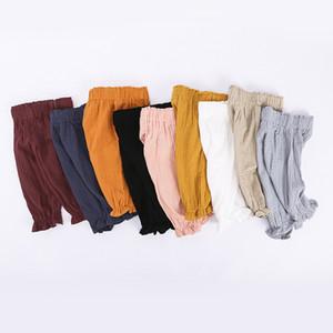 Çocuklar Erkek Bebek Kız Harem Pantolon Pamuk Keten Baggy Pantolon PP Tozluklar Sweatpants Sleepping Pantolon Bebek Giyim Pantolon