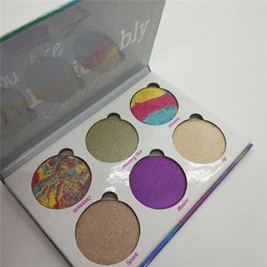 Newest Love Luxe Beauty Fantasy Eyeshadow You Are Unbelievably Beautiful highlighter 6 Colors Eyeshadow Makeup Palette Free Shipping