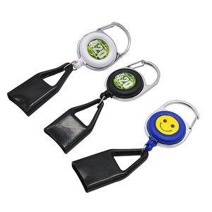 Guinzaglio più leggero Cassaforte Stash Clip retrattile Keychain Sorriso Viso Accendino Supporto Blunt Splitter Trasporto libero