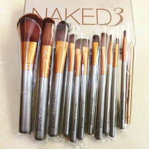 Free Shipping by ePacket 12 PCS Brushes Set Foundation Blending Powder Eyeshadow Contour Concealer Blush Cosmetic Makeup Tool