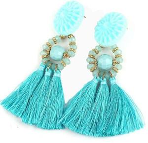 무료 배송 과장된 보헤미안 낭만적 인 귀걸이 인기있는 조커 귀걸이 긴 스타일 궁전 워터 드롭 스타일 귀걸이 핫 패션