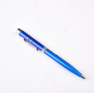3 in 1 Led laser Pointer ballpoint pens Multi Function Pens LED Ball Pen student office writing pen
