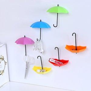 Nuevo Forma de paraguas 3 con gancho Ganchos adhesivos Cocina / Baño / Dormitorio / Sala de estar Super Weigh Hook up Hooks Rails Rated 4.6 / 5 basado en 370