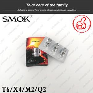Auténtica SMOK TFV8 X-bebé bobina Heads M2 Q2 X4 T6 reemplazo atomizador bobinas para Smoktech TFV8 X-bebé tanque de DHL