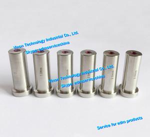 (2pcs) d = 0.3-3.0mm Agie Taladro Guía HD30 (rubí + SUS) 12dx16x35Lmm SD1 guía electrodo 335009075,335009076 Actspark SD1, Charmilles HD30, Agie