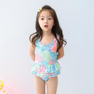 PROSEA Kinder Swimwears Baby Mädchen Blumendruck einteilige Mini Rock Badeanzüge Kinder Badeanzug Beachwear