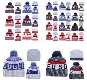 invierno al por mayor Beanie sombreros hechos punto del American Sports Equipos beanies tapas de las mujeres de los hombres populares de invierno de la moda sombrero de calidad superior envío libre de DHL