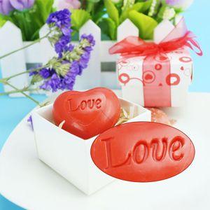 FEIS atacado personalizado hand-made AMOR sabão sabão em forma de coração vermelho favor do casamento presentes de casamento do chuveiro de bebê vermelho amor estilo