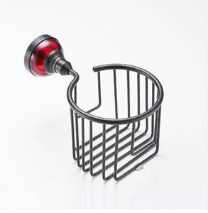 Fapully Toilet Paper Black Space Aluminium Bathroom Basket Towel Paper Holder Accesorios para el baño