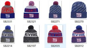 Desconto Esporte gorro chapéu Giants Beanie NY Sideline Tempo Frio Esporte gorros HAT gorros inverno Quente De Malha De Lã Crânio Cap