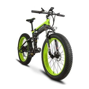 Großhandel 500W 48V 10AH Full Suspension Rahmen XF690 Fat Reifen Bike Speed faltendes elektrisches Fahrrad mit Computer-Geschwindigkeitsmesser