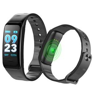 Смарт-браслет C1s цветной экран водонепроницаемый браслет монитор сердечного ритма измерения артериального давления фитнес-трекер группа