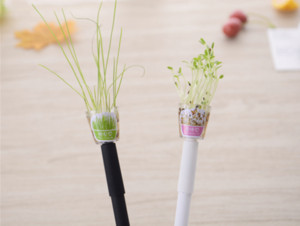 1 조각 Lytwtw의 크리 에이 티브 작은 신선한 0.5 mm 젤 펜 잔디 공장 펜 귀여운 Fleshines 학교 용품 사무 용품