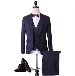 2016 new spring Men's wool Single Button casual suit men,blazer wedding dress,fashion Business Suits(Jackets+vest+Pants) man suit wedding
