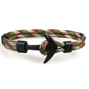 인기 디자인 Handmade Mens and Womens Paracord 앵커 팔찌 도매업 2 PCS에 대한 Multi Colors Woven 팔찌