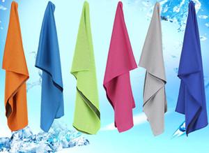 2017 Magic Cold Towel Ejercicio Fitness Sweat Summer Ice Towel Deportes al aire libre Hielo Cool Toalla Hipotermia 90x30cm Toallas de enfriamiento