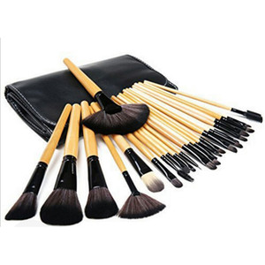 Hot Sale Professional Makeup Brushes Set 24pcs Portable Full Cosmetic Make up Brushes Tool Foundation Eyeshadow Lip brush with Bag