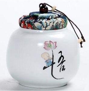 magasins d'usine mini porcelaine scellé noir thé stockage coffres élégant peint à la main oolong thé boîtes cadeau T48