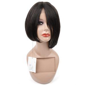 Regolabile pre-Pizzico bassa di seta del merletto dei capelli umani 12inch Glueless parrucche brasiliana diritta del merletto per Black Women