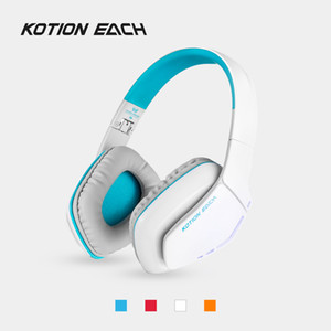 KOTION EACH B3506 Bluetooth 4.1 Headphones Wireless Foldable Gaming Headset with Microphone LED Wired Earphone for PS4 PC Gamer 30 pcs DHL