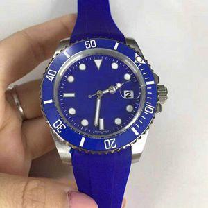 Top Quality Mens watch automatic Mechanical men watches 40mm black Rubber watchband mm6 chronometer Ceramic Bezel BATMAN PVD male clock