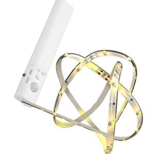 Bewegungsaktiviertes Bettlicht Flexible 1m 1,5m LED-Streifensensor-Nachtlichtbeleuchtung mit automatischem Abschalt-Timer für Schlafzimmer