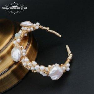 GLSEEVO натуральный камень пресной воды барокко белый жемчуг браслеты подарок для женщин регулируемые браслеты браслет ювелирных изделий GB0060 S18101507