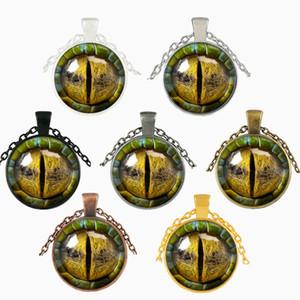 3D Dragon Eye Collana Tempo Gemstone Uomo Donna Vetro Cabochon Cupola Ciondolo gioielli Ciondolo per le feste Arti Artigianato Regali 3 5jj bb