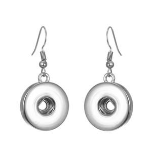 Noosa Snap Button Ohrring Metall Ohrhänger Snap Ohrschmuck fit 12mm 18mm Druckknöpfe Einfache Ohrringe Frauen