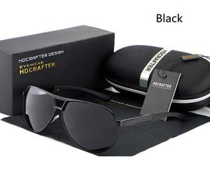 Nuovo HDCRAFTER uomini polarizzati degli occhiali da sole del progettista di marca Telaio Superiore Qualitly guida Occhiali da sole in lega con la scatola originale
